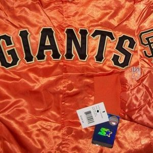 STARTER Jackets & Coats - SAN FRANCISCO GIANTS Snap Down STARTER JACKET XL